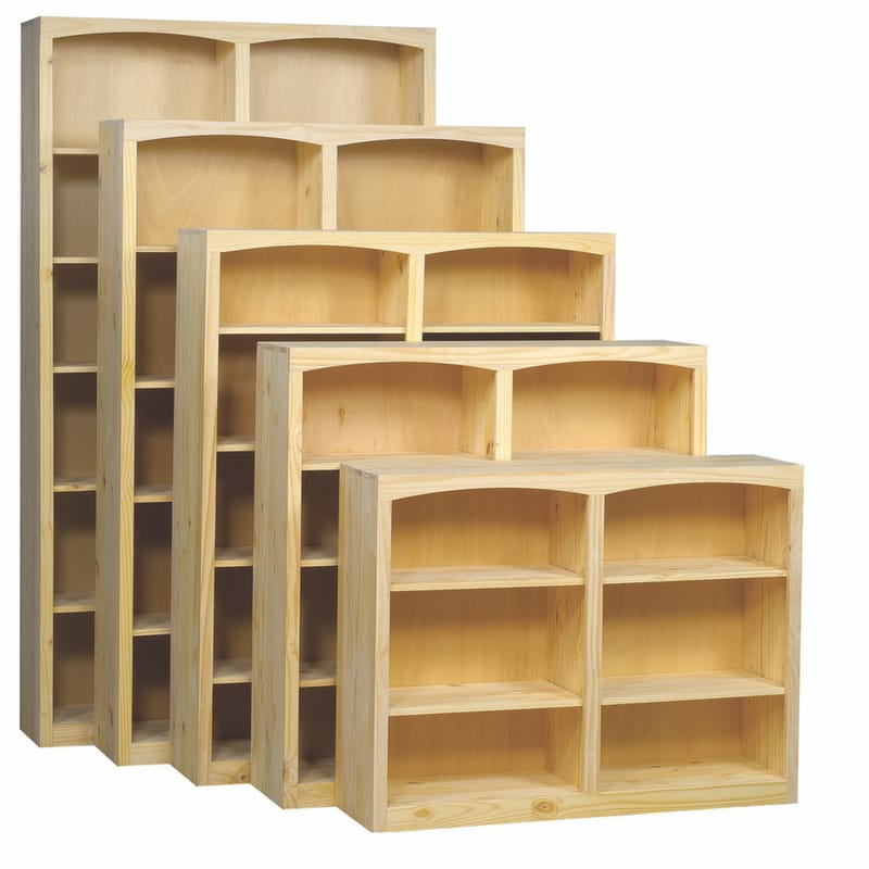 The Archbold Solid Pine Bookcases Are Unfinished Ready For Your