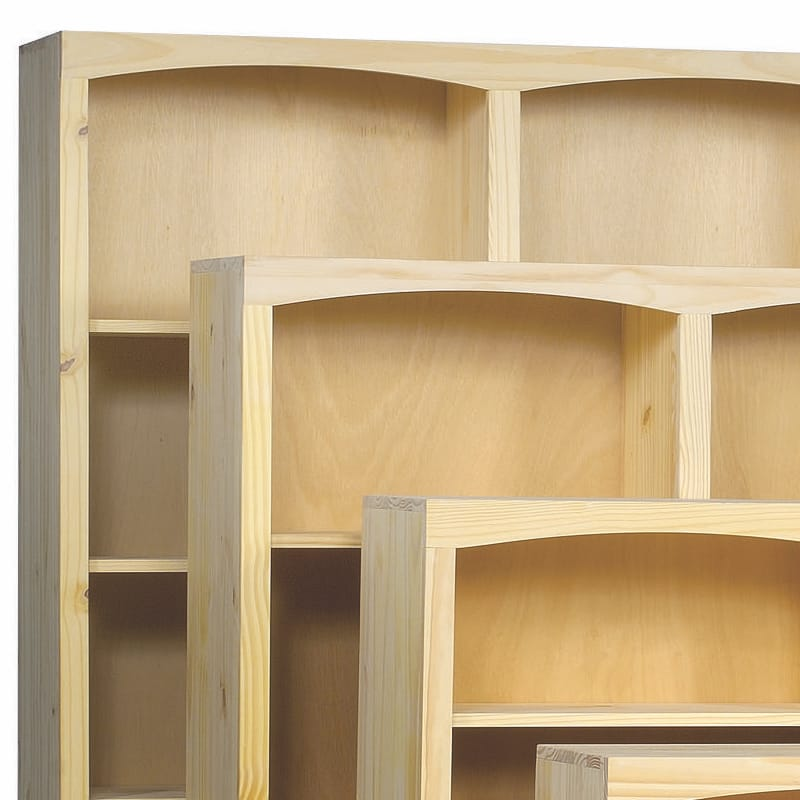 Arched solid pine bookcase by archbold