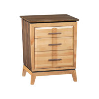 Wide 3-Drawer Addison Nightstand