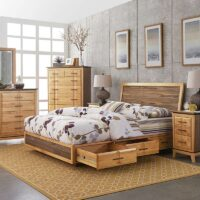 Addison Storage Bed with Adjustable Height Headboard 2