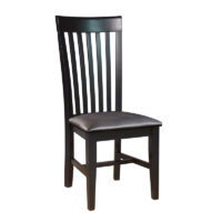 Black Mission Chair with Black Vinyl Seat