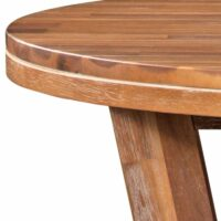 Alpine Modern Rustic Round Solid Wood Dining Table 2