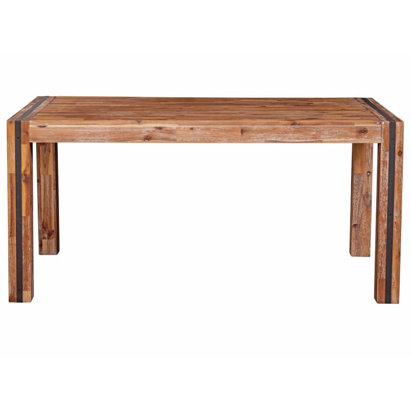 Alpine modern rustic rectangular dining table ships free for Contemporary rectangular dining table