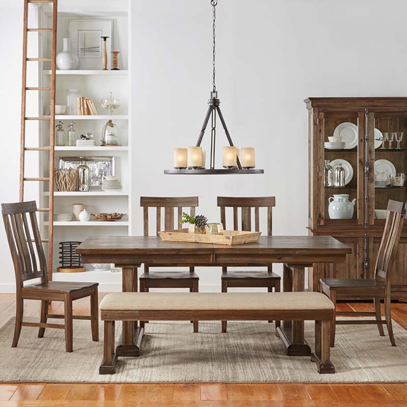 Dawson Trestle Extension Dining Table Free Shipping