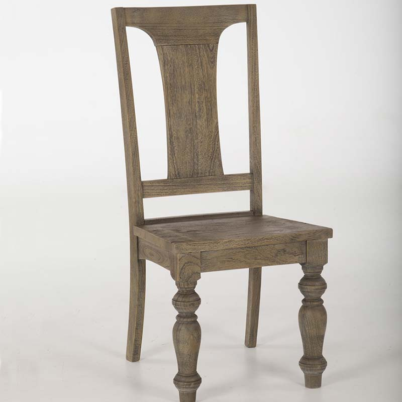 Colonial Plantation Weathered Teak Chairs-Set of 2-Free Shipping