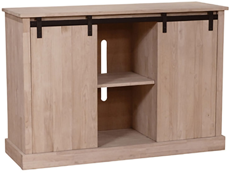 The Whitewood Barn Door Media Cabinet Is Also A Buffet And