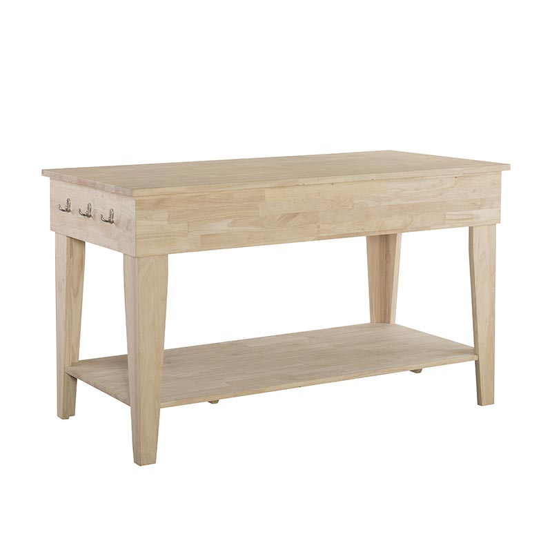 Unfinished Kitchen Island: The Joanna Solid Wood Kitchen Island Is Unfinished For