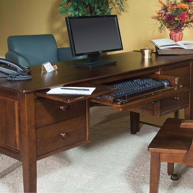 The Lancaster Executive Desk Has A Finished Back