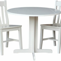 The Whitewood Small Drop Leaf Table Is Perfect For Any