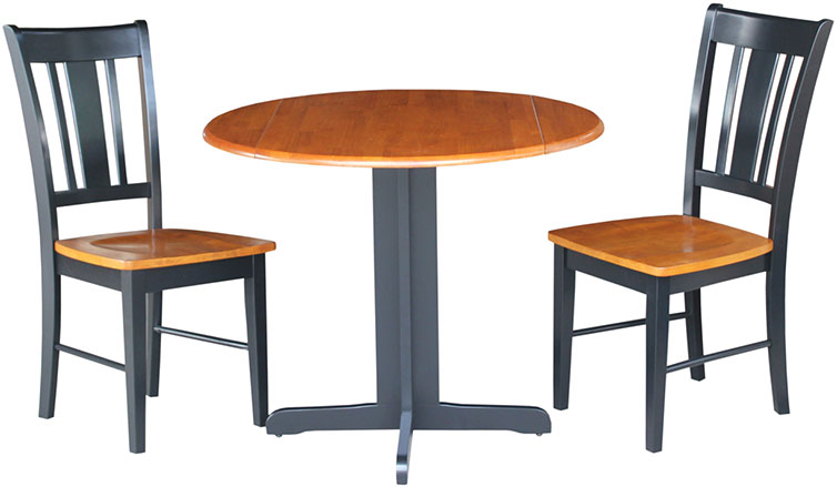Whitewood Contemporary 36 Quot Round Dropleaf Table
