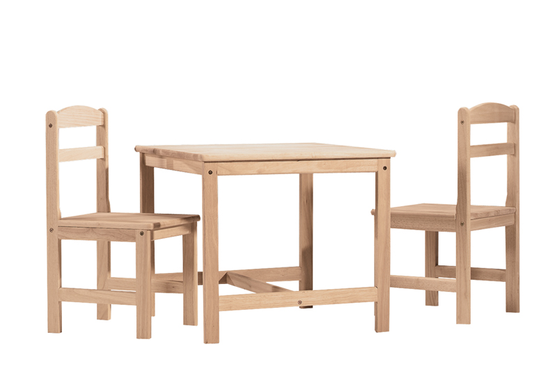 Whitewood Kid S Table And 2 Chair Set