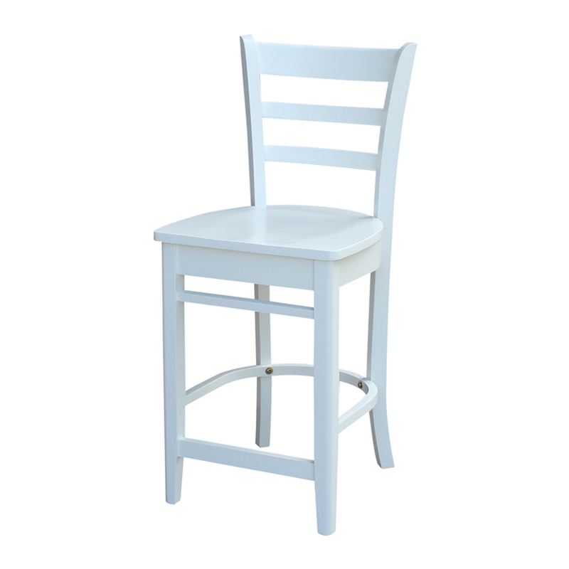 The Emily Counter Or Bar Stool Is A Solid Wood Stool
