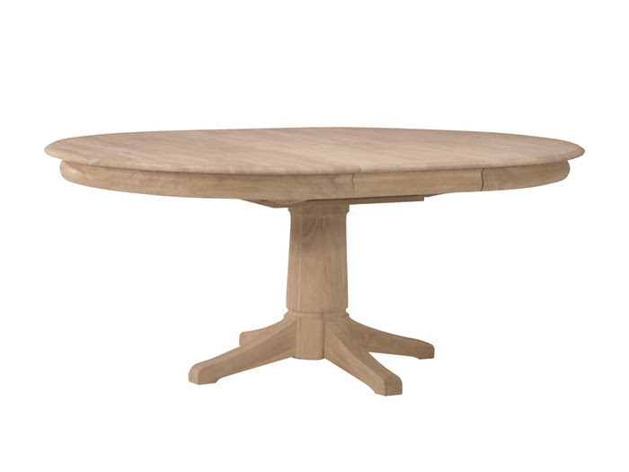 Whitewood 54 Round Dining Table With Butterfly Leaf Free Shipping