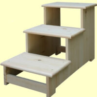 Furniture in the Raw 3-Step-Stool in Pine, Oak or Maple
