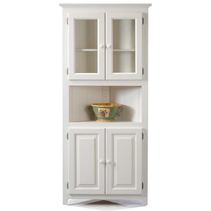 Corner Cabinet With Upper And Lower Doors