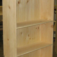 Cottage Bookcase with Bunn Feet and Bead Board Back Panel