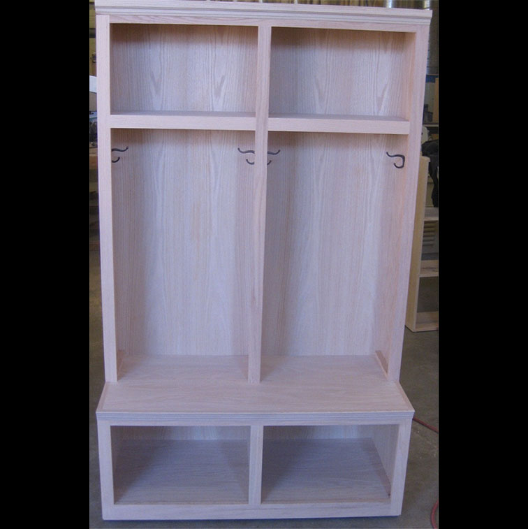 Furniture in the Raw Locker with Lower Cubby Storage