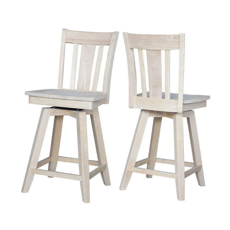 San Remo Swivel Counter Or Bar Stool Unfinished Or Custom