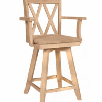 S-202SWAB-Double-X-Arm-Swivel-Stool