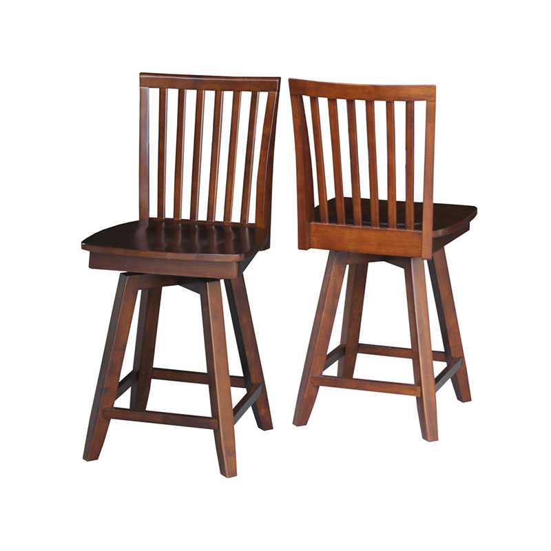 Mission Swivel Counter Or Bar Stool Unfinished Or Custom
