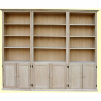 Traditional 3 Piece Wall with Flat Panel Doors