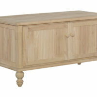 Whitewood Cottage blanket chest BD-201 unfinished