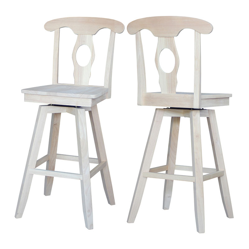 Empire Swivel Counter Or Bar Stool Unfinished Or Custom