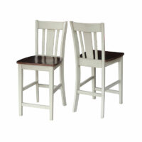 Almond and espresso san remo stool S12-102