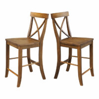 s59-6132 Canyon Pecan X Back Stool