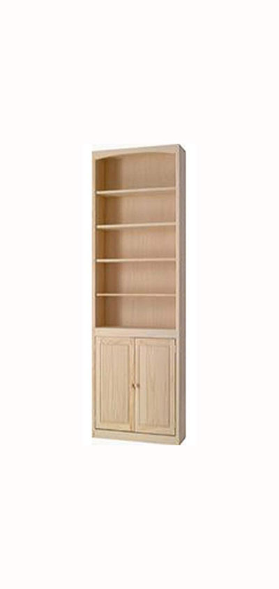 36 Quot Wide Archbold Arched Pine Bookcase With Doors