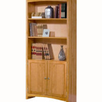 Archbold Solid Alder Bookcase with Doors
