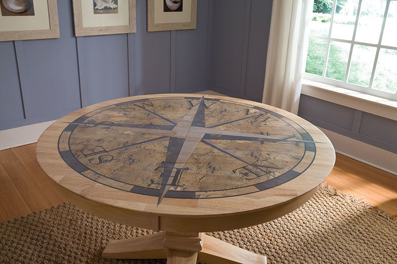Coastal classics compass 52 round table for 52 table view