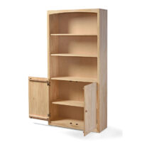 Archbold Pine bookcase with doors