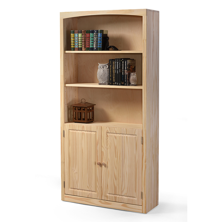 The 24 Wide Archbold Pine Door Bookcase is made of solid wood