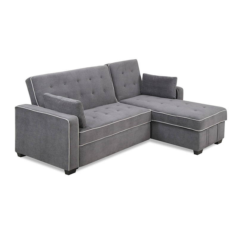 serta jacqueline convertible king size sleeper sofa chaise lounge. Black Bedroom Furniture Sets. Home Design Ideas