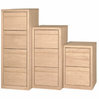 2 3 or 4 drawer File in oak, maple, or pine