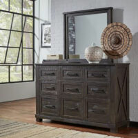 Sun Valley Dresser and Mirror by A America