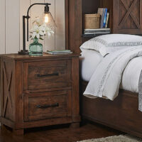 SUVRT5750 Rustic Timber Nightstand Sun Valley