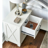 SUVWT5750 SunValley White Nightstand
