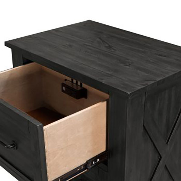 A American Solid Pine Sun Valley Nightstand With Hidden Drawer