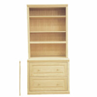 Step Back 2 Drawer Bookcase