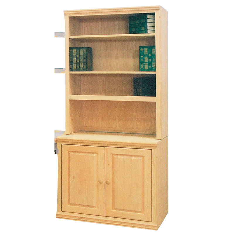 The Furniture In Raw Step Back Bookcase Base And Hutch