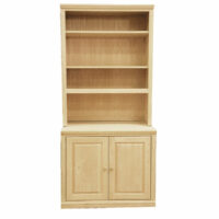 Step Back Bookcase with 2 Doors