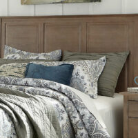 BD09-702 Headboard Weathered Grey Lancaster