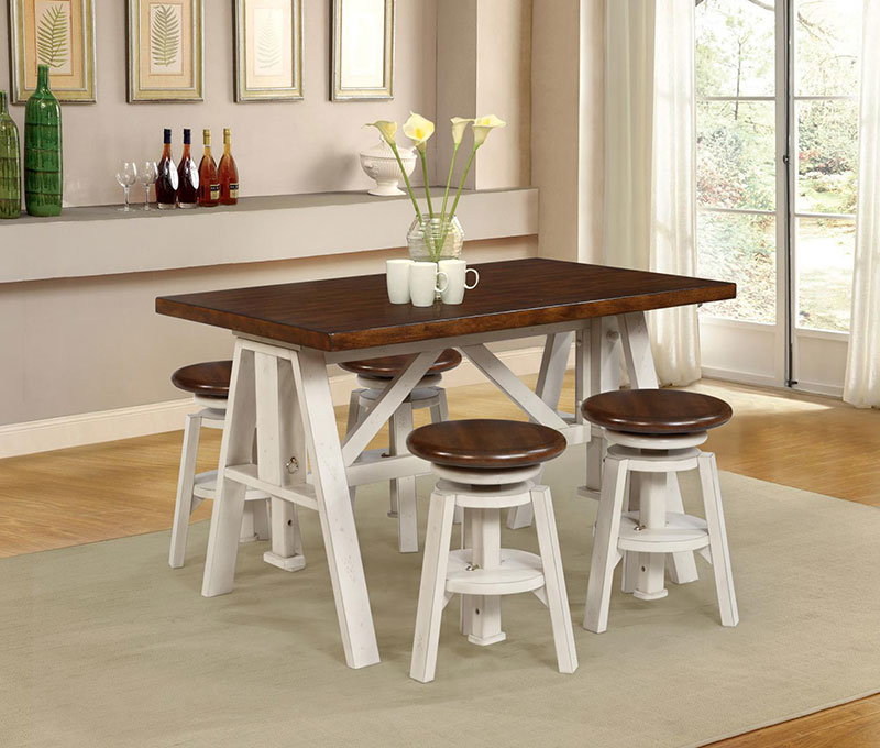 The Modesto Adjustable Height Dining Goes From Standard To