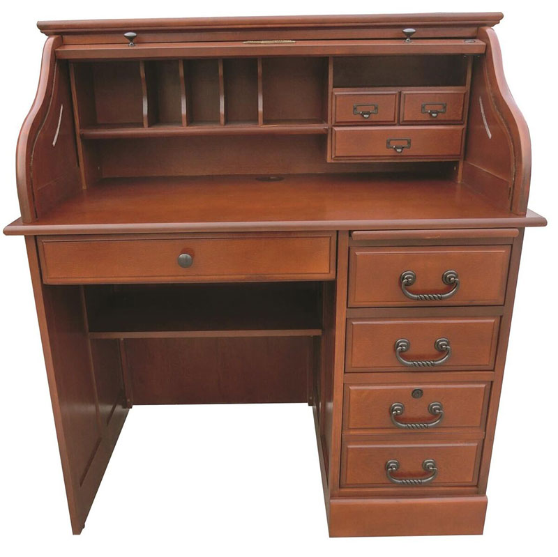 The Deluxe Roll Top Desk Is Solid Oak And In 2 Finishes