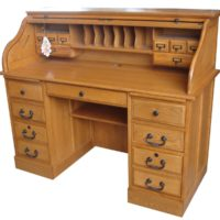 8951 54″ roll top desk finish by TEI