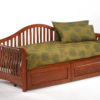 Nightfall Daybed Cherry w Drawers closed