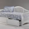 Nightfall Daybed White w Drawer opened