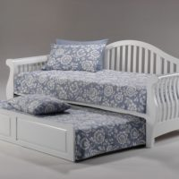 Nightfall Daybed White w Trundle opened